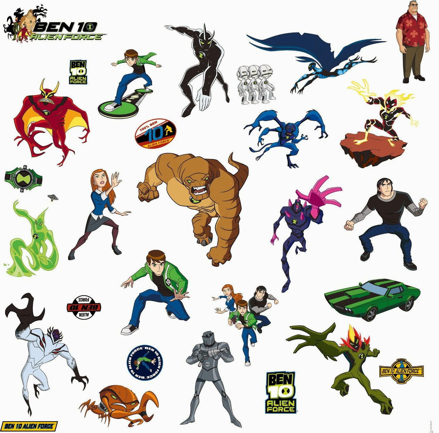 Removable Wall Art Stickers Mini Bedrooms For Kids And Adults The Newest Ben 10